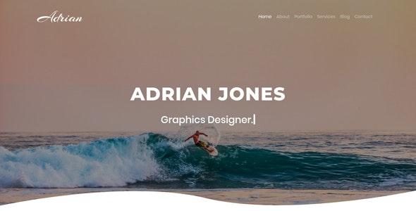 Adrian | Personal Portfolio Template - Portfolio Creative