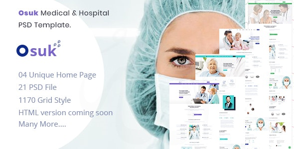 OSUK - Medical, Hospital, Doctor and Health care PSD Template - Health & Beauty Retail