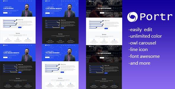 Portr - Responsive Portfolio Landing Page Template