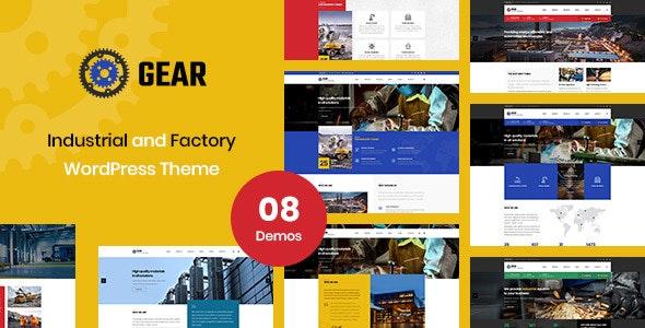 Gear - Factory and Industry Business WordPress Theme - Corporate WordPress