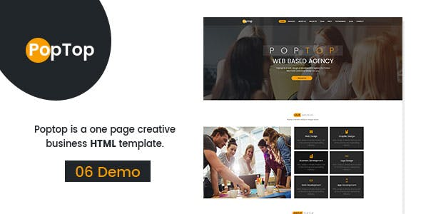 PopTop Web Agency HTML 5 Responsive Bootstrap-4 Template.