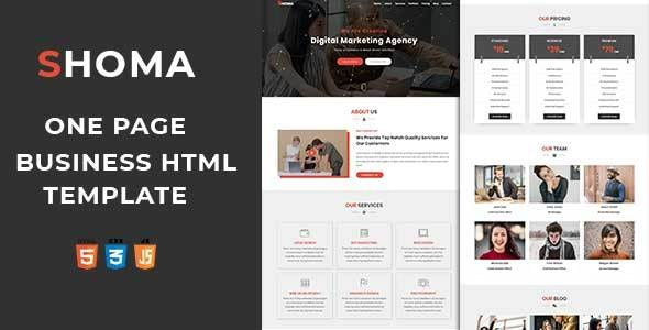 SHOMA - One Page HTML Business Template - Business Corporate