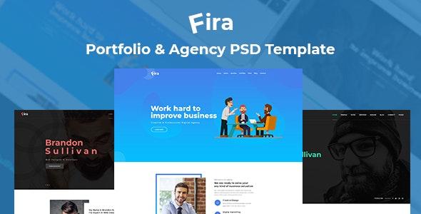 Fira - Agency And Personal Portfolio PSD Template - Portfolio Creative