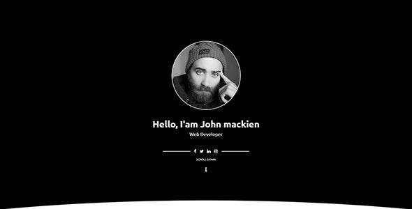 Mackien- One Page Portfolio HTML5 Template - Portfolio Creative