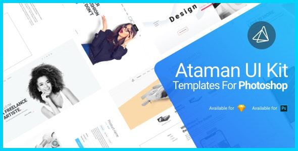 Ataman UI Kit - Templates for Photoshop - Photoshop UI Templates