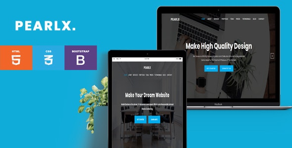 Pearlx- OnePage Responsive HTML5 Template - Corporate Site Templates