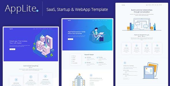 AppLite - Responsive Bootstrap 4 SaaS, Startup & WebApp Template