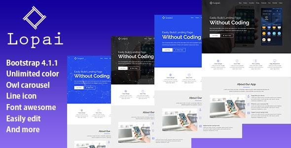 Lopai - Responsive App Landing Page Template - Landing Pages Marketing