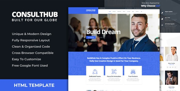 Consulthub - Consultancy Business HTML Template - Business Corporate