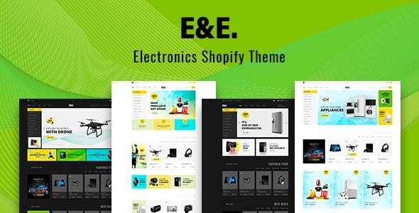 Electronics Shopify Theme - E&E by Theme-4Web | ThemeForest