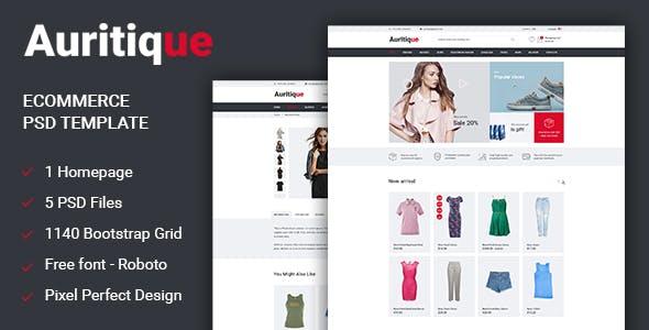 Auritique - Responsive eCommerce PSD Template