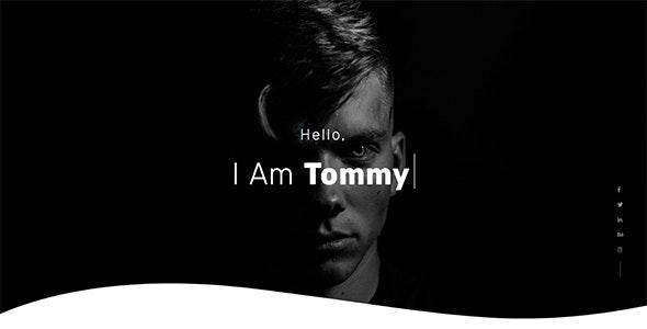 Tommy - Creative One Page Portfolio - Portfolio Creative