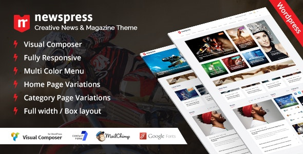 NewsPress - Responsive News / Magazine WordPress Theme - News / Editorial Blog / Magazine