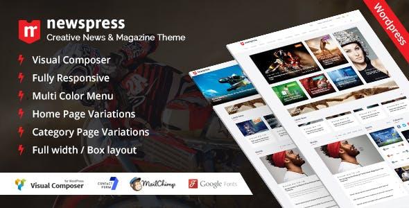 NewsPress - Responsive News / Magazine WordPress Theme