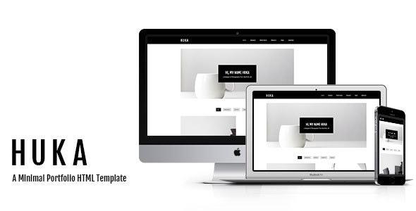 Huka - A Minimal Portfolio HTML Template - Portfolio Creative