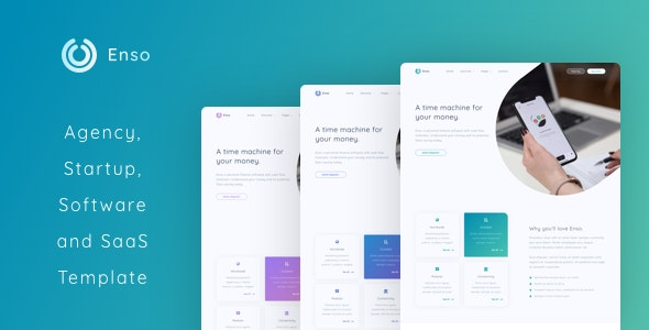 Enso - Agency, Startup and SaaS Template - Software Technology