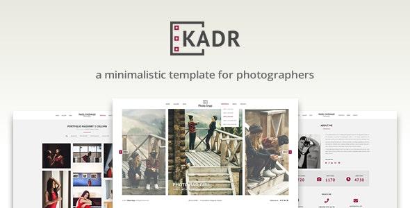 KadR - Minimalistic Template for Photographers - Photography Creative