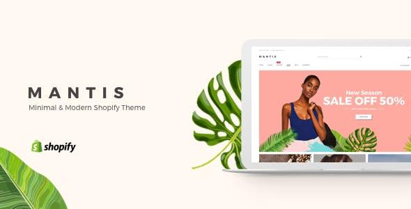 Mantis - Minimal & Modern Shopify Theme