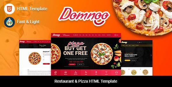 Domnoo - Restaurant & Pizza HTML Template
