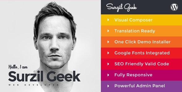 Geek - Personal Resume & Portfolio WordPress Theme - Portfolio Creative