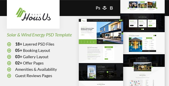 HousUs - Rental Property PSD Template - Business Corporate