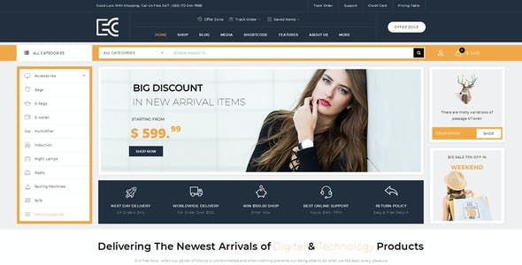 eCode - Multipurpose WooCommerce Theme
