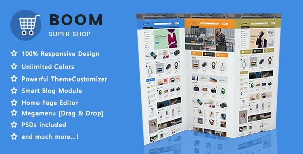 Boom - Clean Super Shopping Responsive PrestaShop 1.7 Theme - Shopping PrestaShop