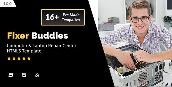 Fixer Buddies - Computer & Laptop Repair Center HTML5 Template - Computer Technology