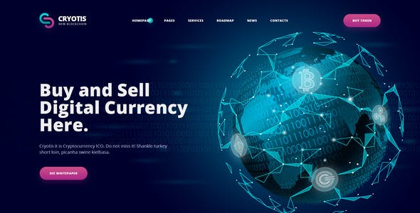 Cryotis - Crypto Currency PSD Template
