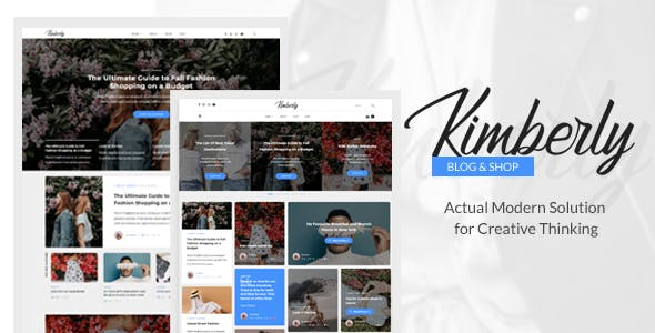 Kimberly - WordPress Blog & Shop Theme