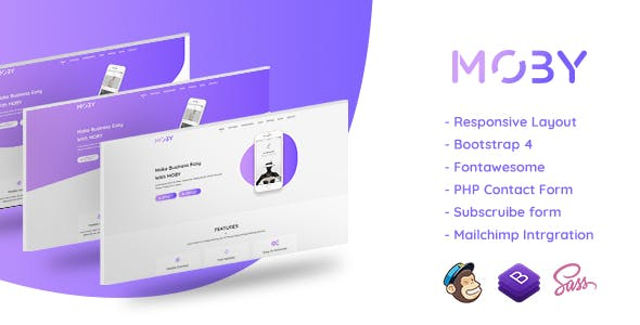 Moby - App Landing Page HTML Template