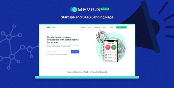 Mevius - Startup & SaaS Landing Page