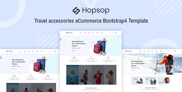 Hopsop - Travel Accessories HTML Template - Travel Retail