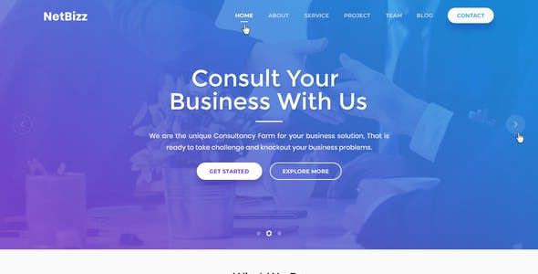 Netbizz - Business and Corporate PSD Templates
