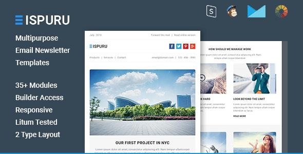 Ispuru - Multipurpose Email Newsletter Templates - Email Templates Marketing