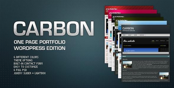 Carbon One Page Portfolio - WordPress - Blog / Magazine WordPress