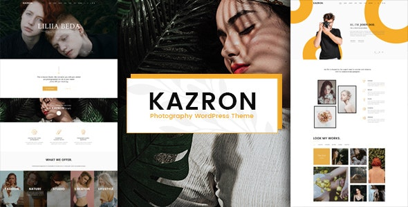 Kazron - Photography WordPress Theme - Photography Creative
