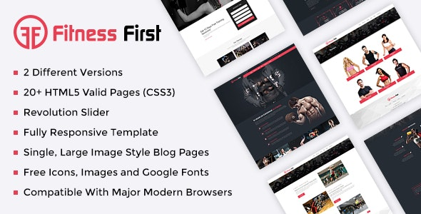 Fitness Gym Html Template - Health & Beauty Retail