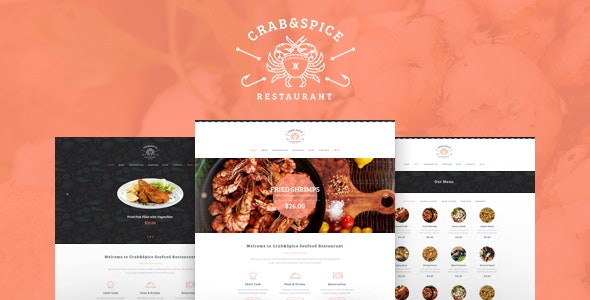 Crab & Spice | Restaurant and Cafe Food WordPress Theme - Restaurants & Cafes Entertainment