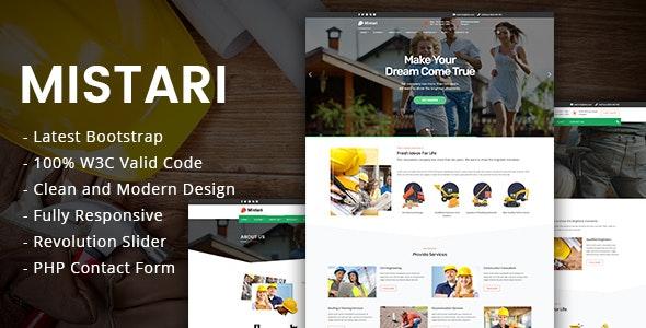 Mistari - Construction Building Company - Business Corporate