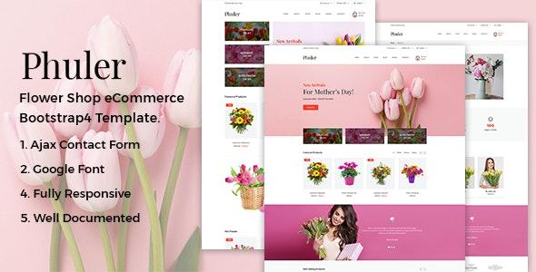 Phuler - Flower HTML Template - Shopping Retail