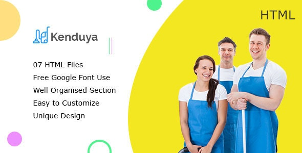 Kenduya || Cleaning Company Business HTML5 Template - Business Corporate