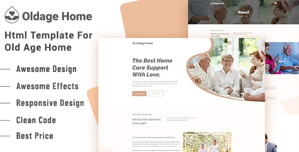 Oldage Home - Senior Security / Senior Care HTML Template - Health & Beauty Retail