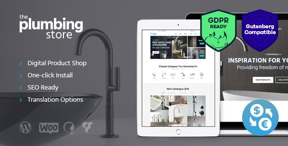 Plumbing and Building Parts, Tools & Accessories Store WordPress Theme - WooCommerce eCommerce