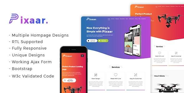 Pixaar - Creative App & Product Showcase Landing Page + RTL - Site Templates