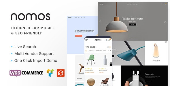 Nomos - Modern AJAX Shop Designed For Mobile And SEO Friendly (RTL Supported) - WooCommerce eCommerce