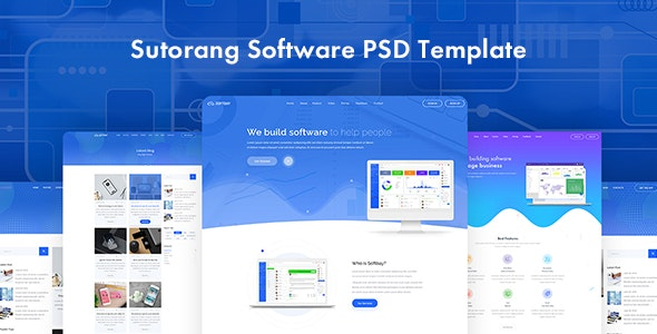 Sutorang | Software Landing PSD Template - Software Technology
