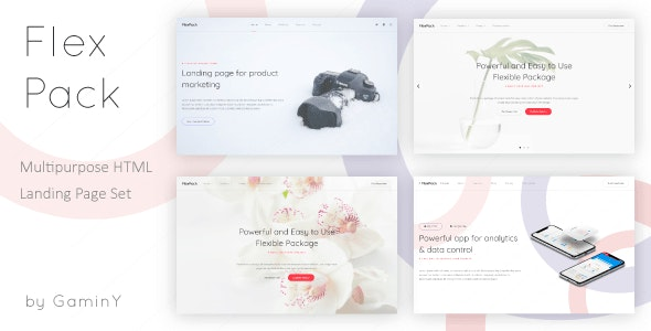 FlexPack - Multipurpose HTML Landing Pages Package - Technology Site Templates