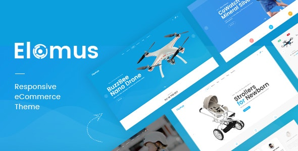 Elomus - Single Product Shop HTML Template - Shopping Retail
