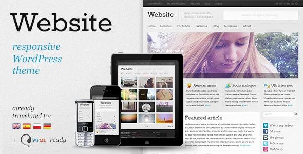 Website - Responsive WordPress Theme - Personal Blog / Magazine